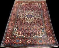 Semi Antique Persian Malayer Handmade Rug 4.6x6.9