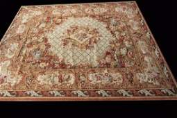 French Savonnerie Rug Wool Pile Hand Made 10x14