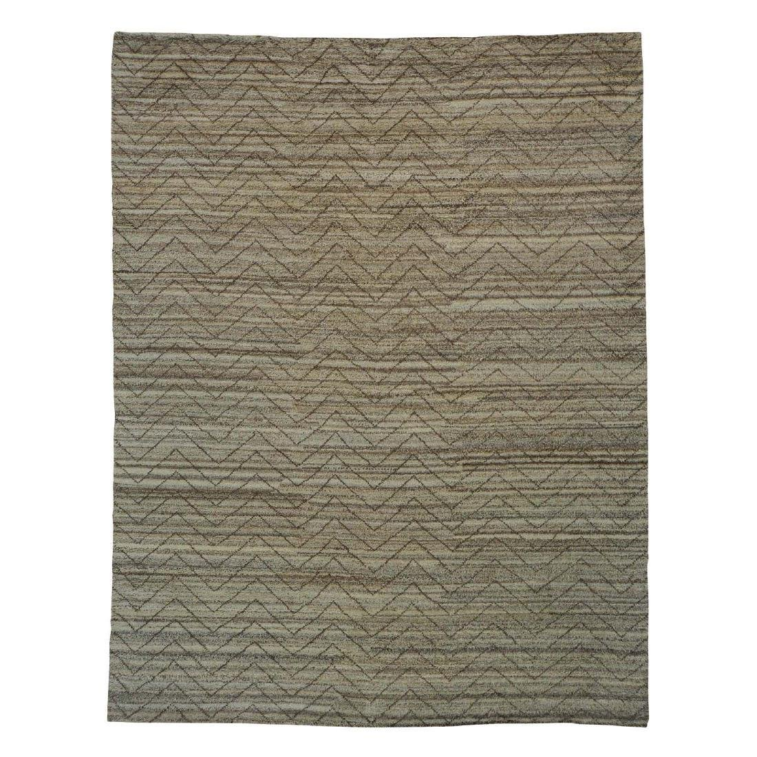 Wool Moroccan Berber Hand Knotted Rug 9.2x11.10