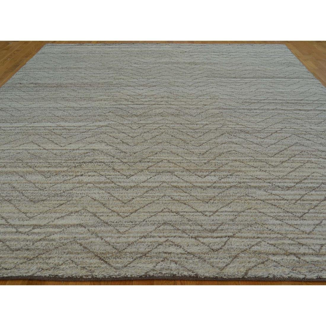 Wool Moroccan Berber Hand Knotted Rug 9.2x11.10 - 2