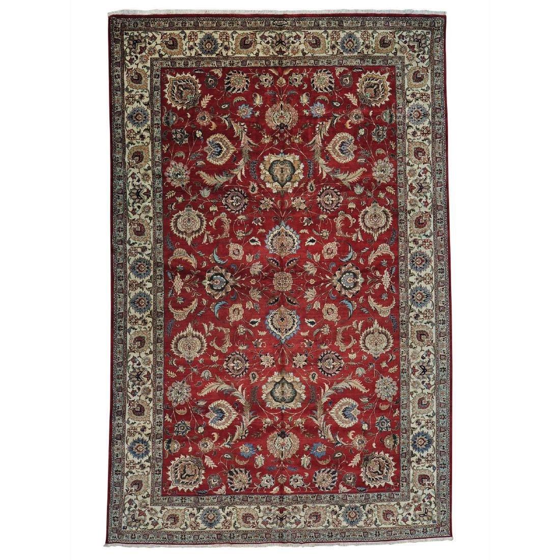 Semi Antique Persian Tabriz Handmade Rug 11.6x17.7