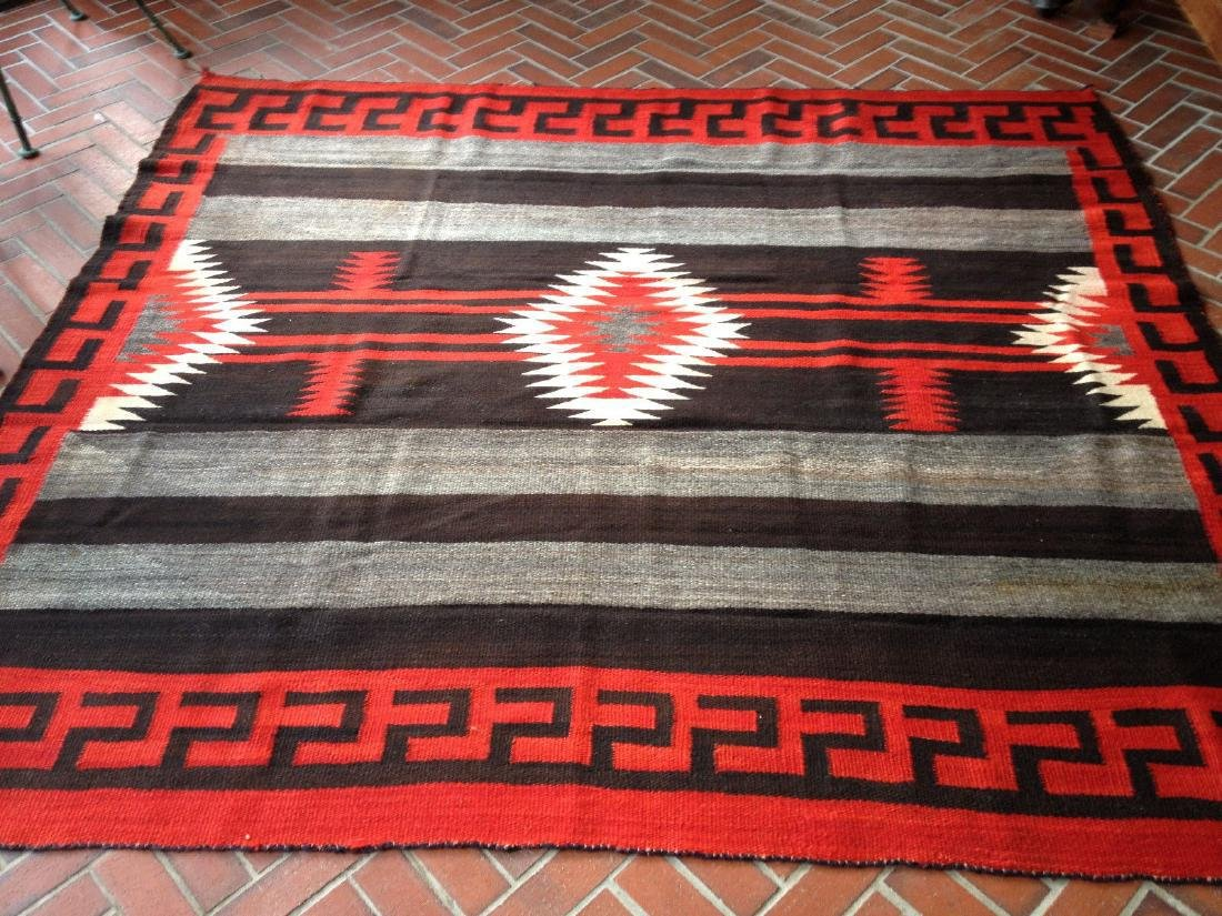 Antique Navajo 3rd Phase Chief's Blanket 5.6x6.2