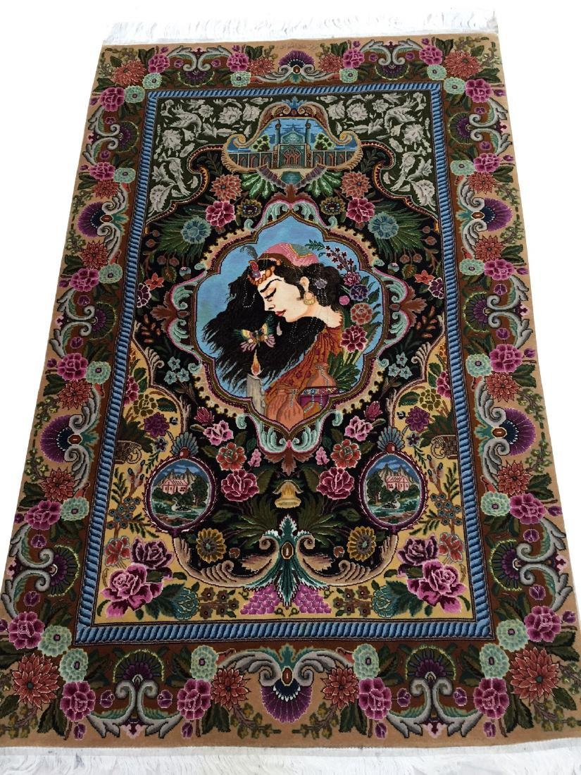 Fine Pair of Persian Tabriz Rugs-Wall Hangings 3x5 Each