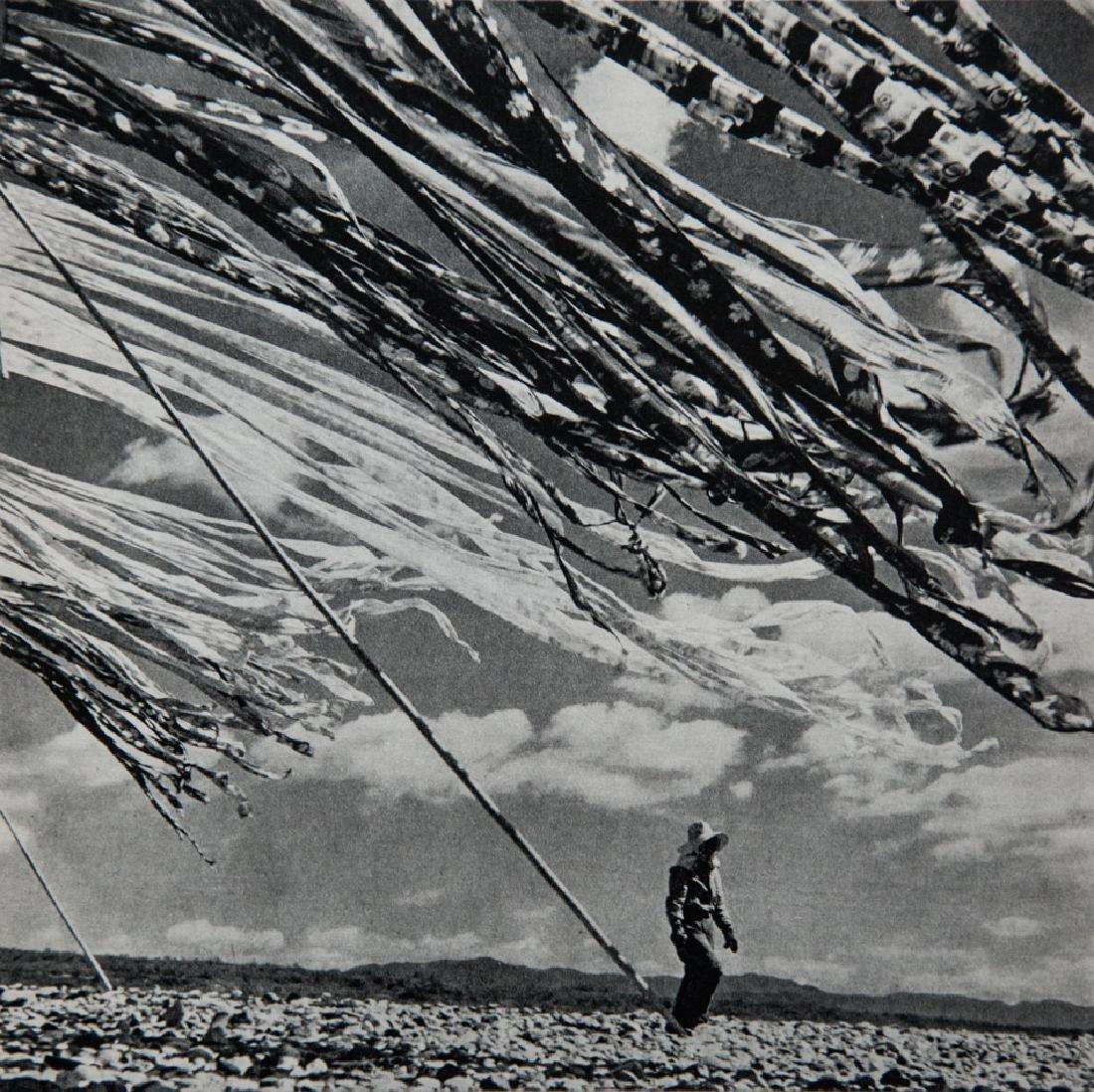 WERNER BISCHOF - Drying Silk, Japan, 1952