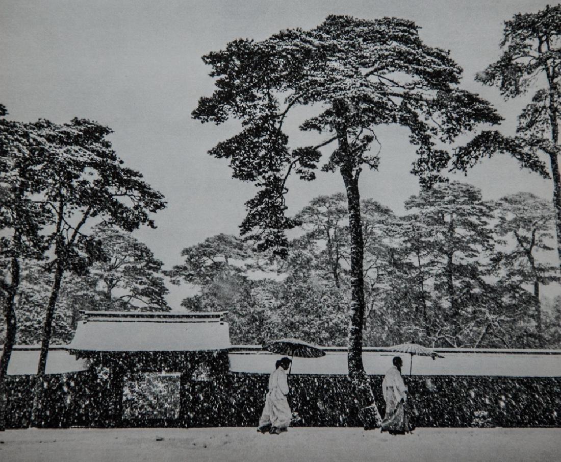 WERNER BISCHOF - Shinto Priests in Temple Garden, Tokyo