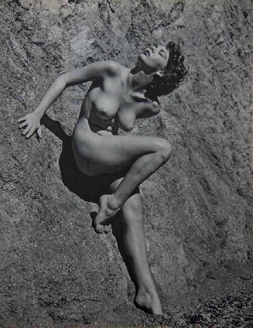 ANDRE DE DIENES - Nude Leaning on Hillside