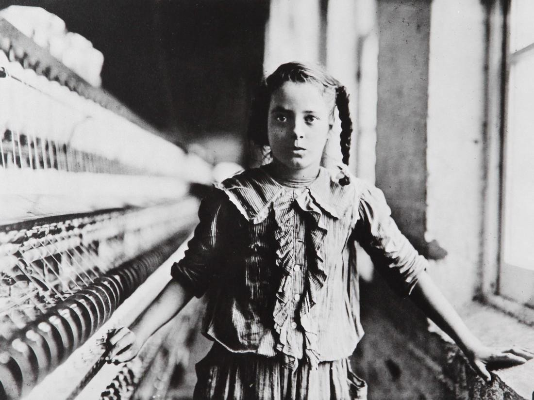 LEWIS HINE - Ten Year old spinner in North Carolina