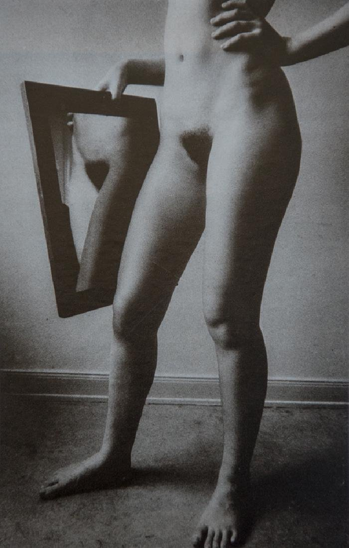 PETER HILL - Standing Nude With Mirror