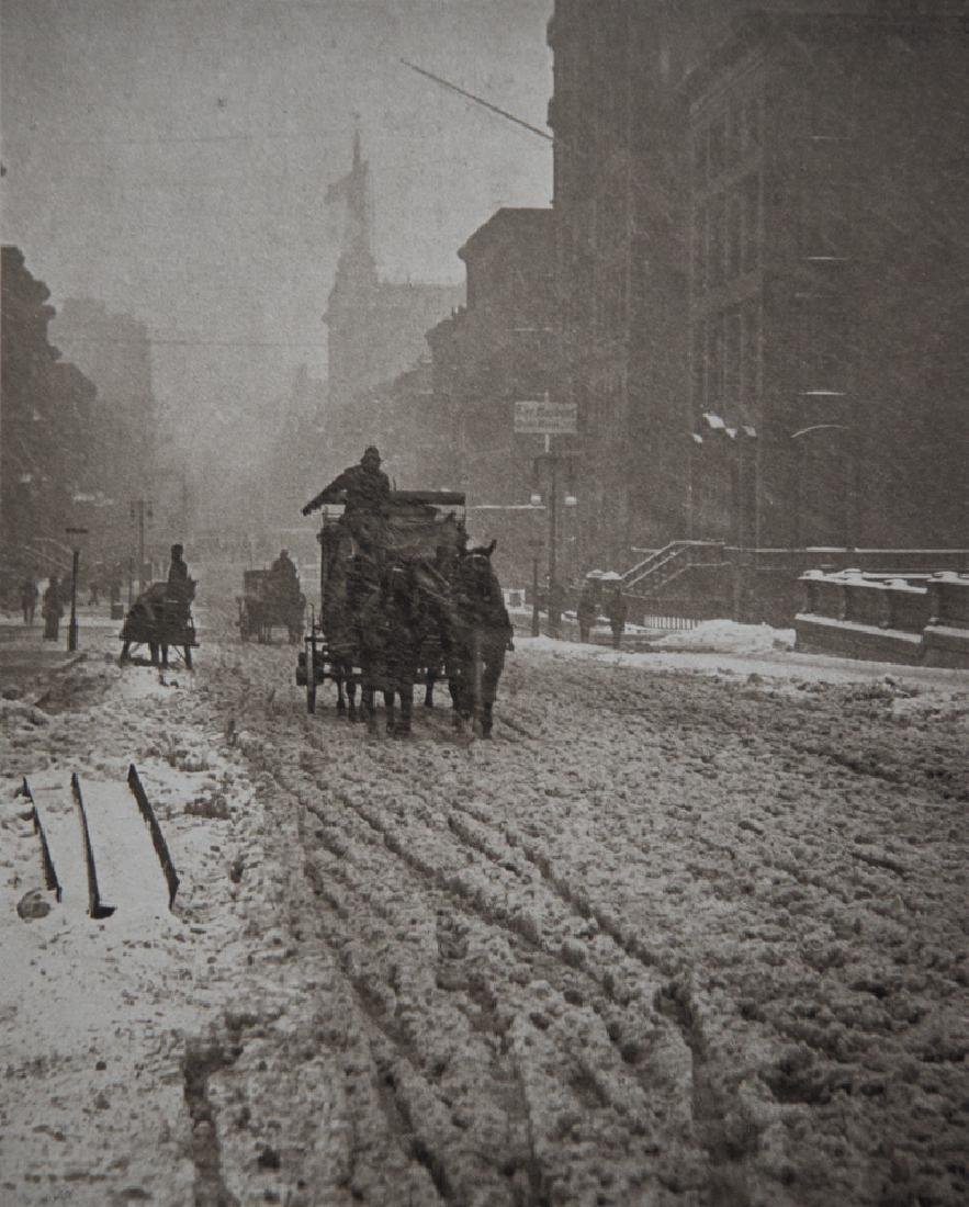 ALFRED STIEGLITZ - Winter, Fifth Ave. 1893