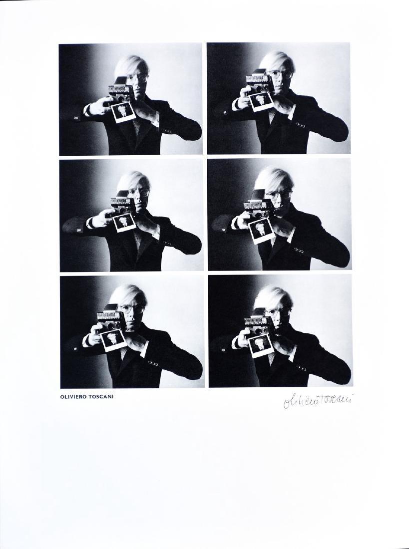 OLIVIERO TOSCANI - Andy Warhol in Carnegie Hall Studio