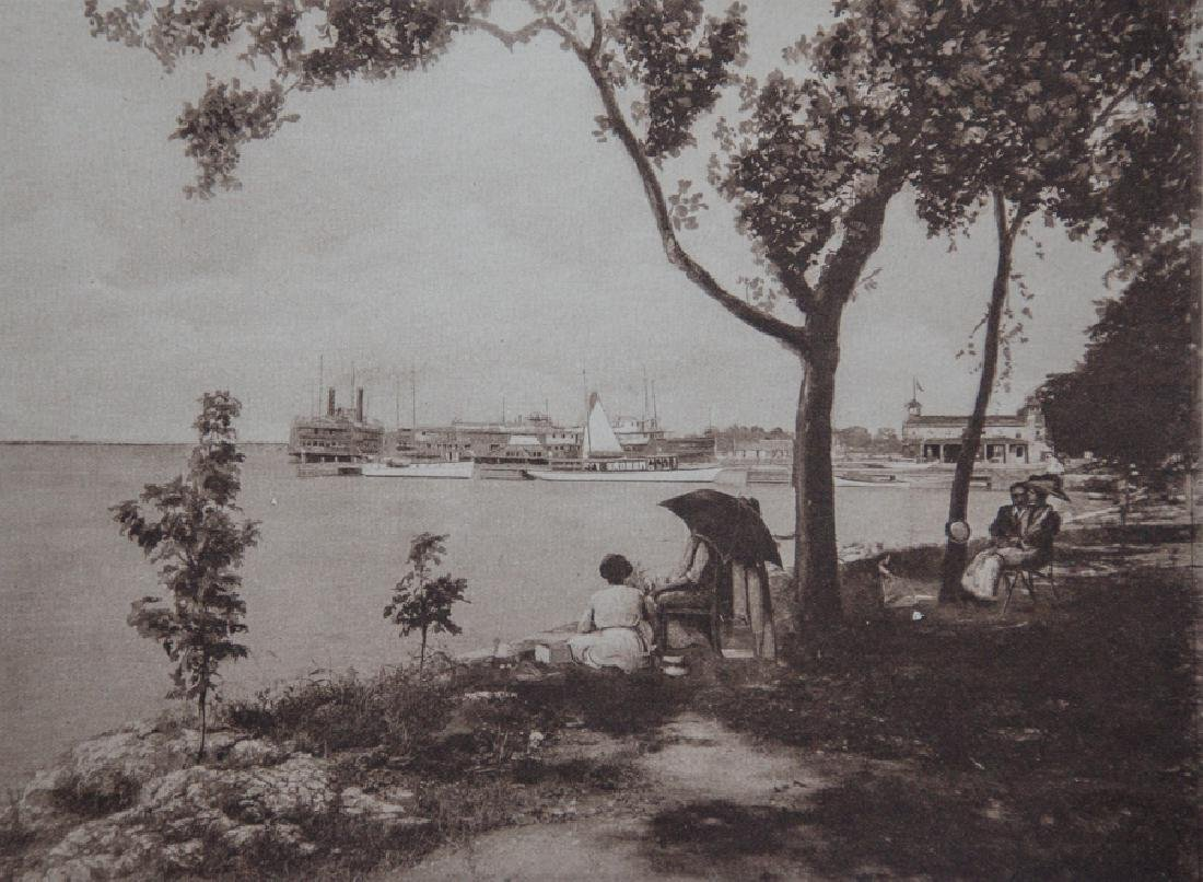 UNKNOWN - Steamer at Dock, Lake Erie, Put-In Bay, Ohio