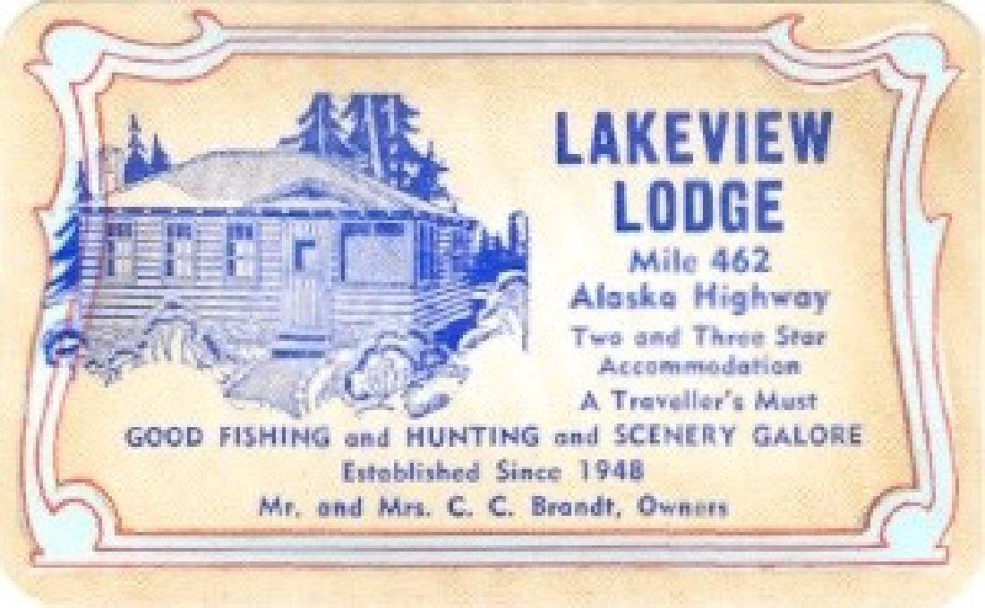 Advertising Card for Lakeview Lodge