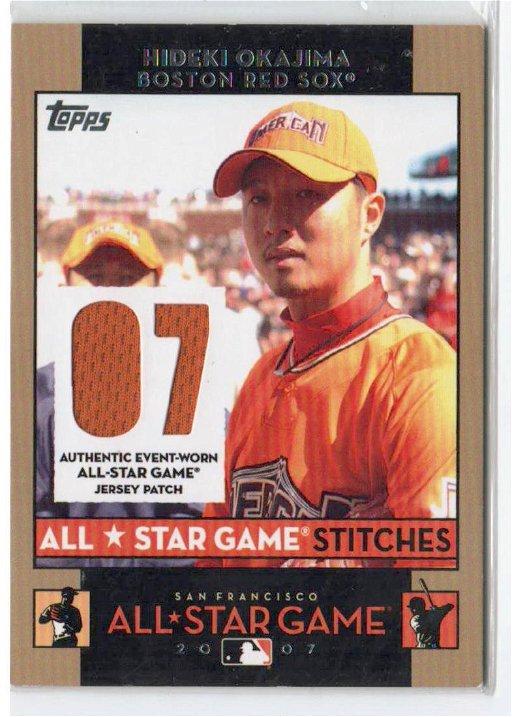 2007 Topps Hideki Okajima All Star Game Jersey Card