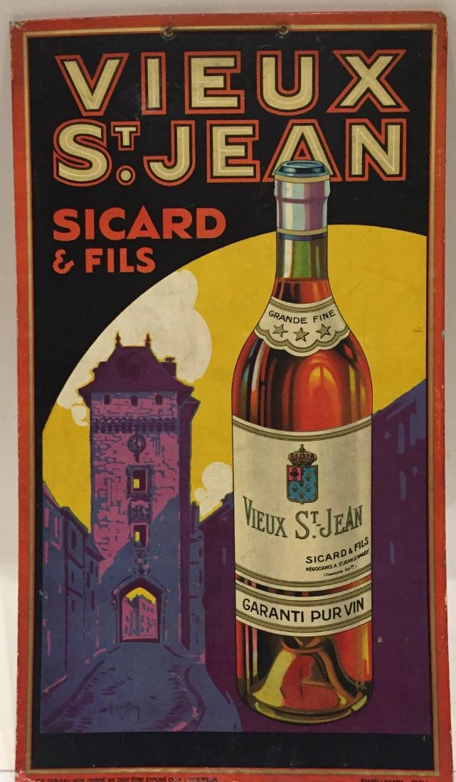 Vieux St. Jean Lithograph on Cardboard