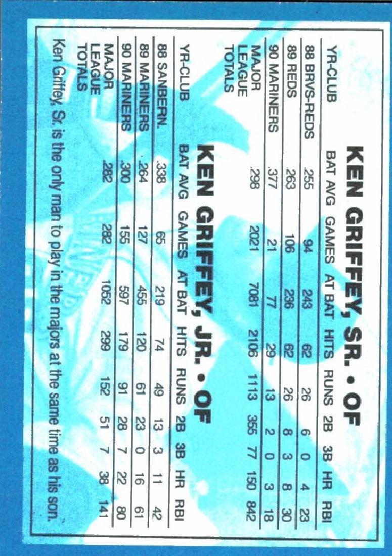 4 Gold Border Ken Griffey Jr Ken Griffey Sr Cards - 2