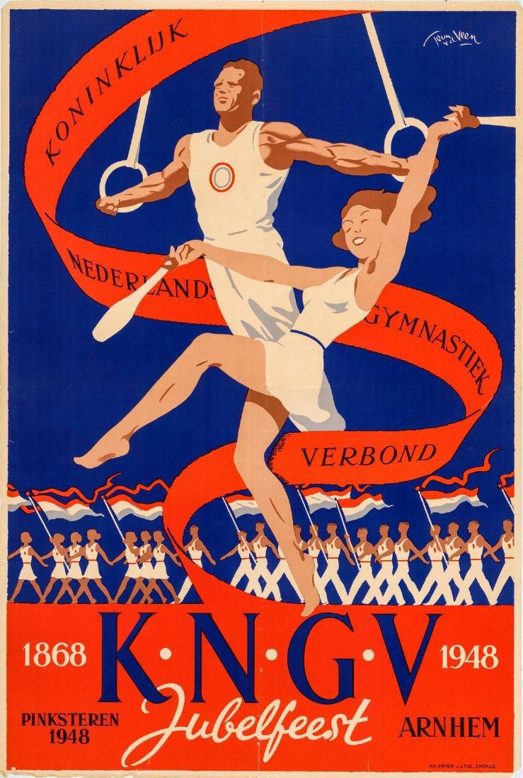Pentecostal Jubilee 1948 Royal Dutch Gymnastics Poster