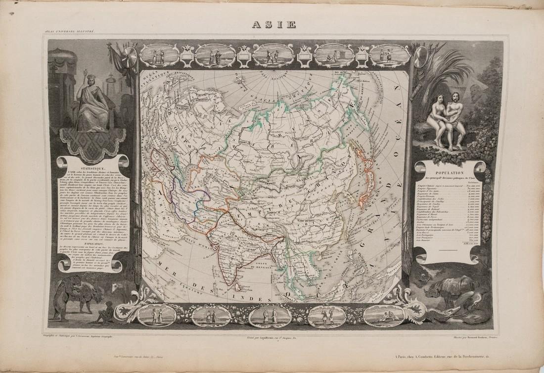 Levasseur: Antique Map of Asia, 1852