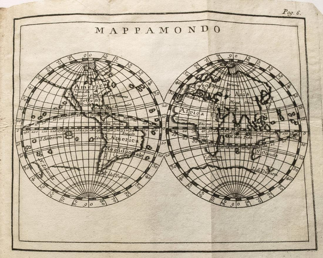 Antique Buffier Map Atlas of the World, 1761 - 3