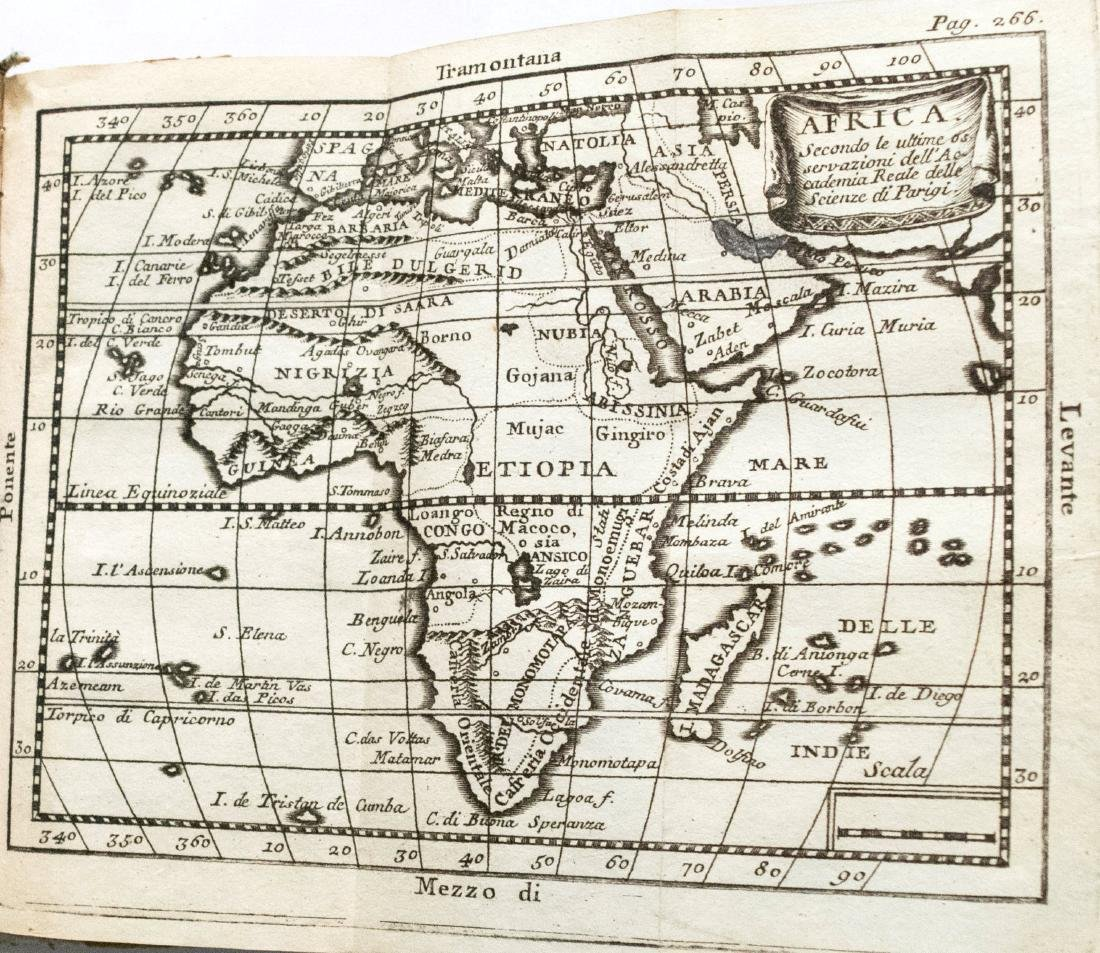 Antique Buffier Map Atlas of the World, 1761 - 4