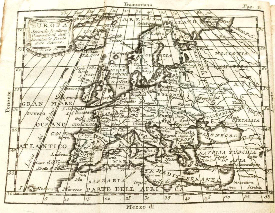 Antique Buffier Map Atlas of the World, 1761 - 5