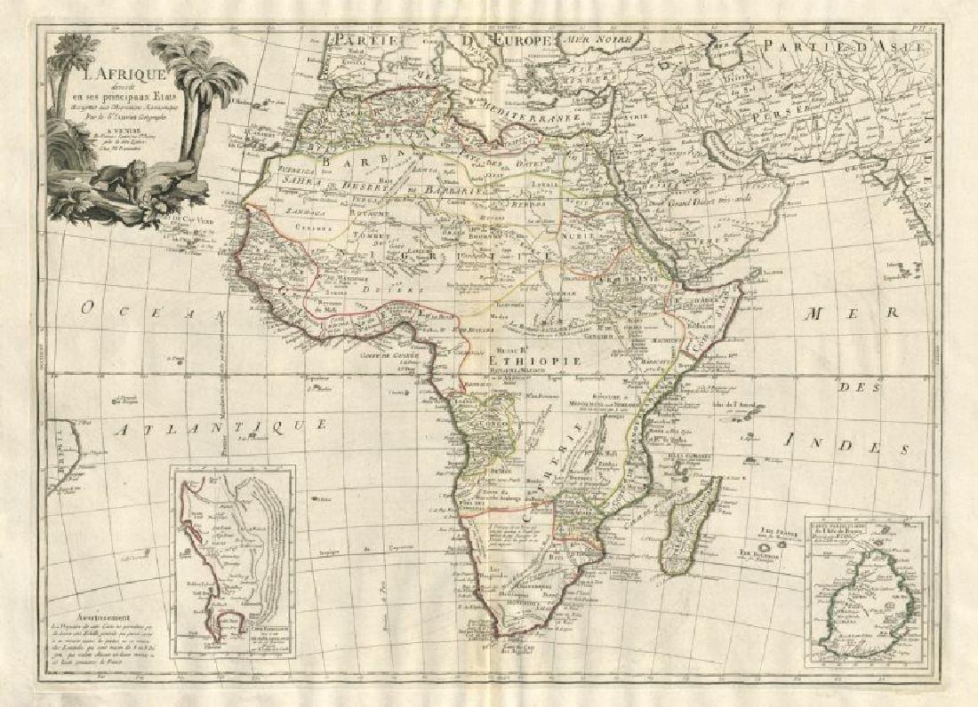 Santini / Janvier: Antique Map of Africa, 1784