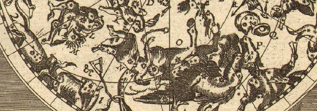 Mallet: Antique Celestial Map Northern Night Sky, 1683 - 2