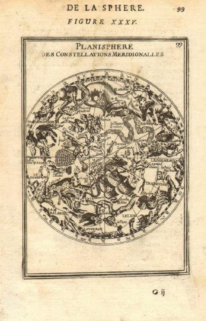 Mallet: Antique Celestial Map Southern Night Sky, 1683