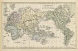 Aikman: Antique Map of World on Mercator's Projection