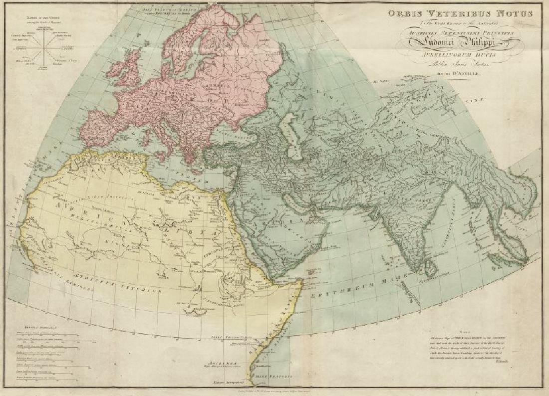 d'Anville: Antique Map of the World known to Ancients