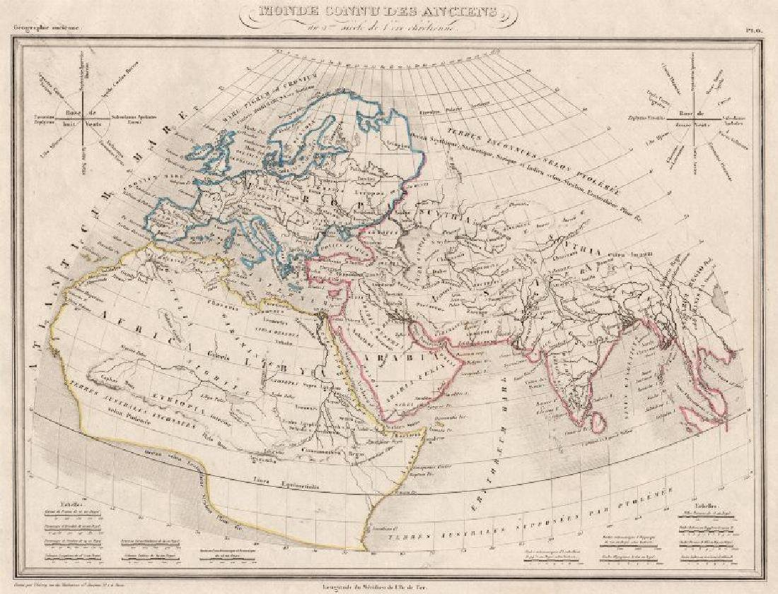 Malte-Brun: Antique Map of the Ancient World, 1846