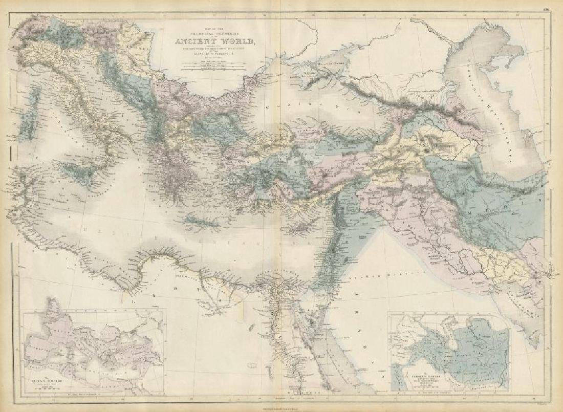 Hughes: Antique Map of Ancient World Alps to Persepolis