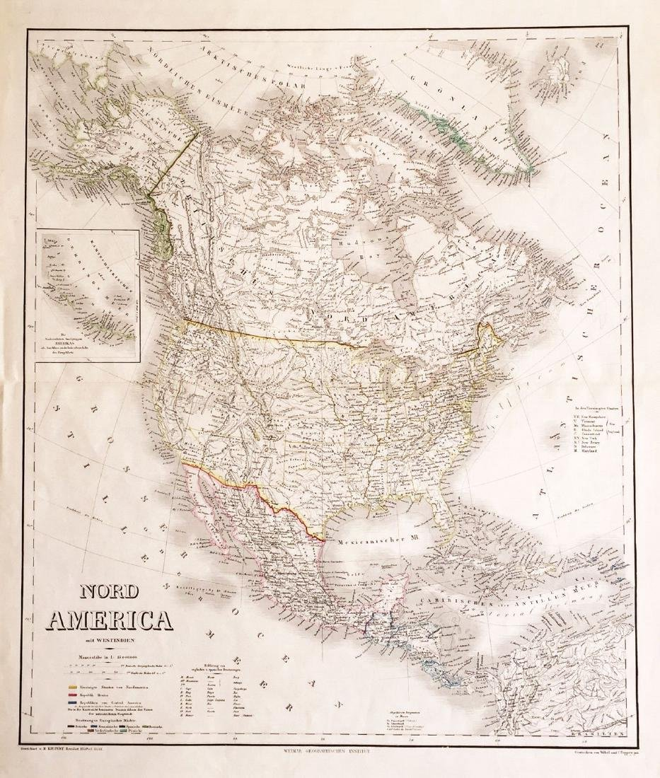 Kieppert & Graf: Antique Map of North America, 1857