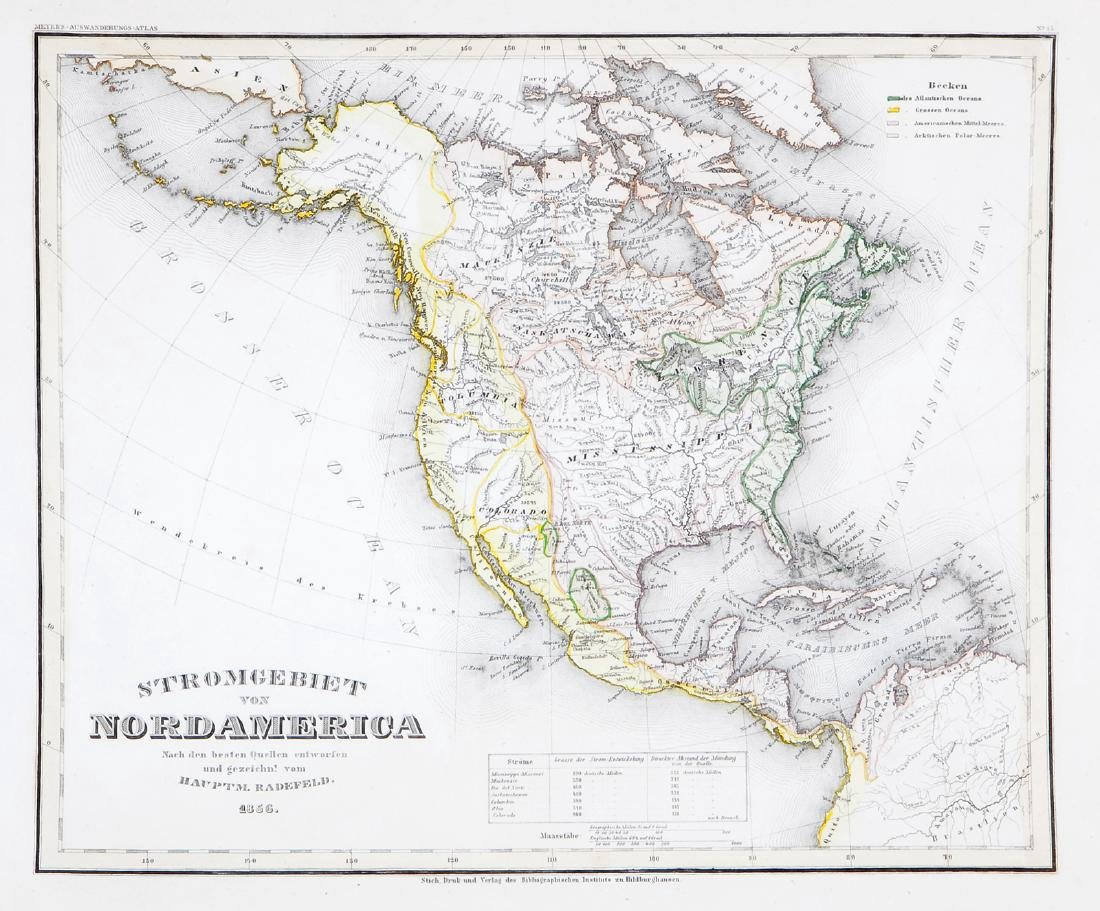Radefeld/Meyer: Map of North America/River Systems
