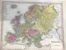Tanner: Antique Map of Europe, 1843