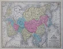 Mitchell: Antique Map of Asia, 1852