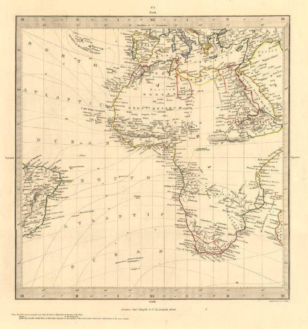 SDUK: Antique Map of Africa, 1846