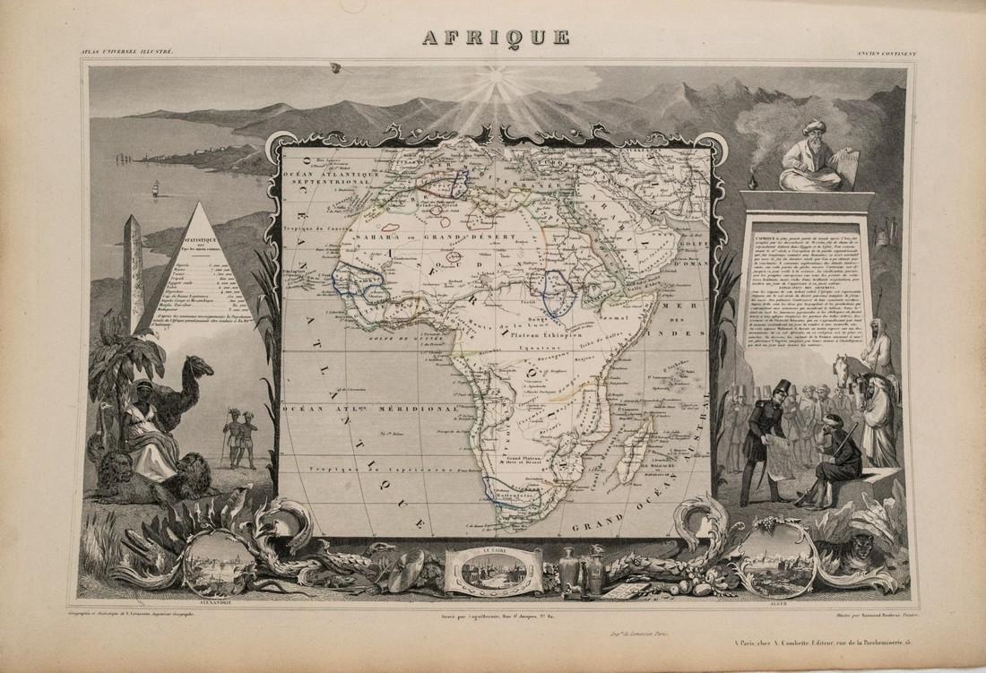 Levasseur: Antique Map of Africa, 1852