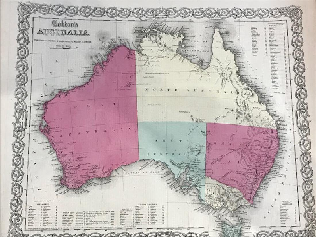 Colton: Antique Map of Australia, 1859