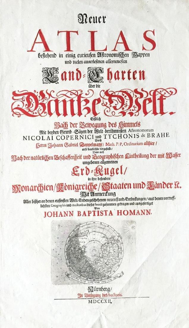 Homann: Antique North Polar Map / Atlas Title Page 1712