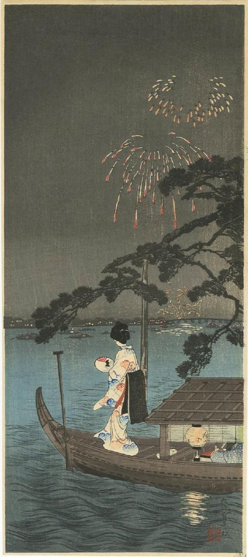 Hiroaki Takahashi Shotei Woodblock Fireworks