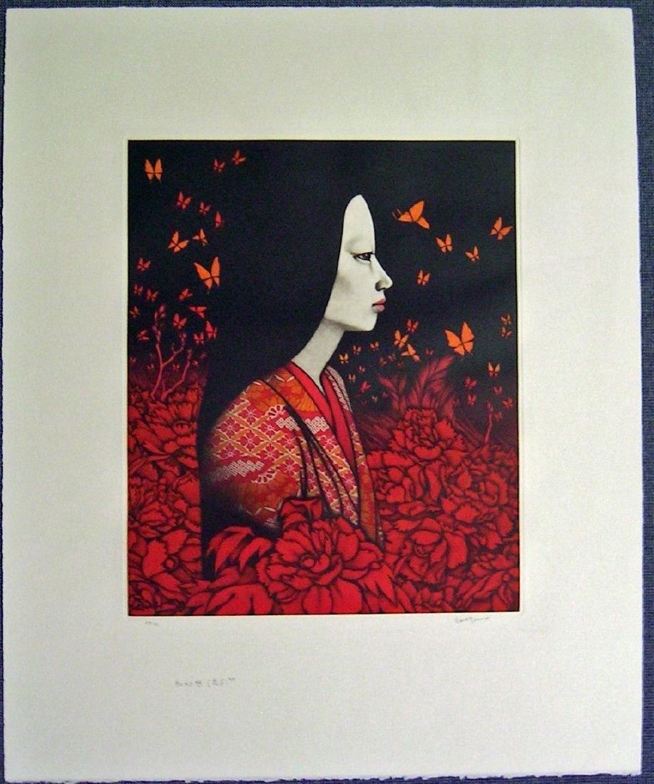 Kaoru Saito Mezzotint Camellia