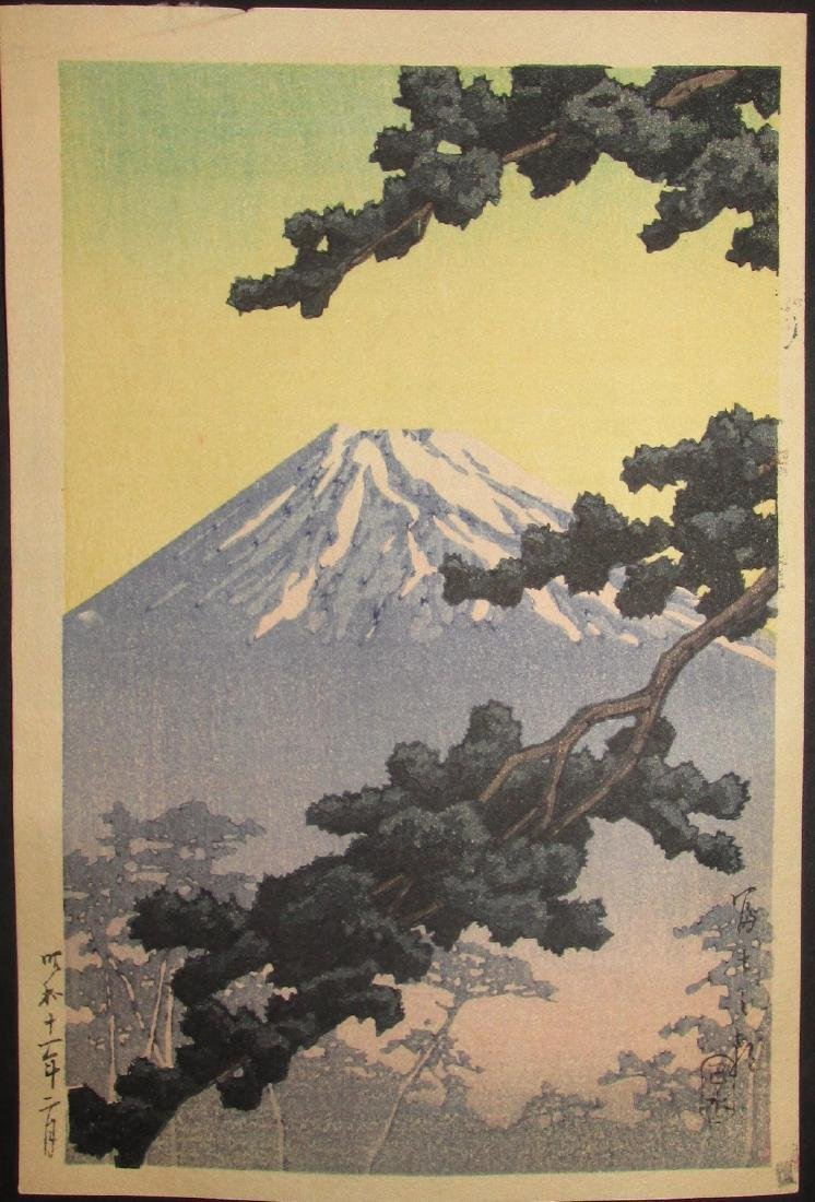 Kawase Hasui First Edition Woodblock Sacred Mount Fuji