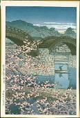 Kawase Hasui First Edition Woodblock Spring Evening
