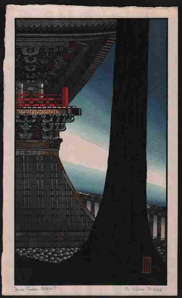 Lilian May Miller Woodblock Drum Tower, Nikko