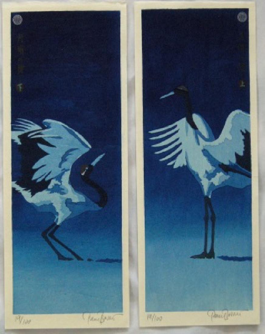 Paul Binnie Woodblock Diptych Moonlight Dance