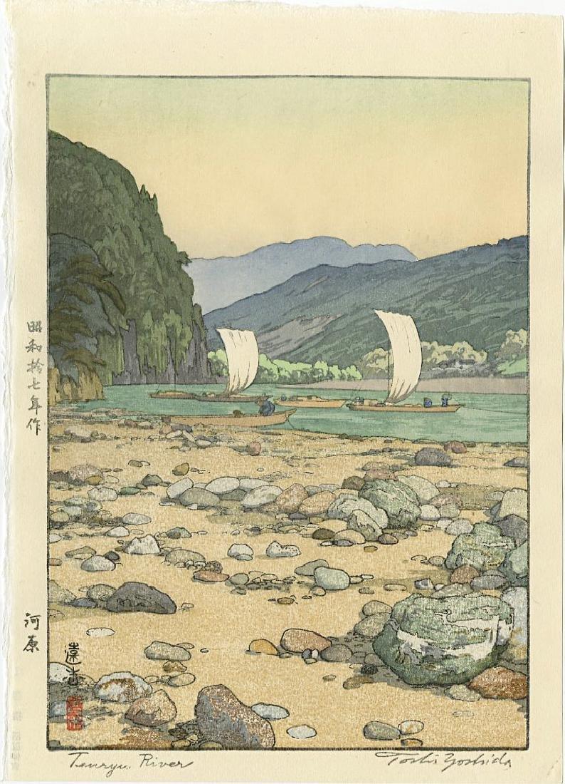 Toshi Yoshida Woodblock Tenryu River