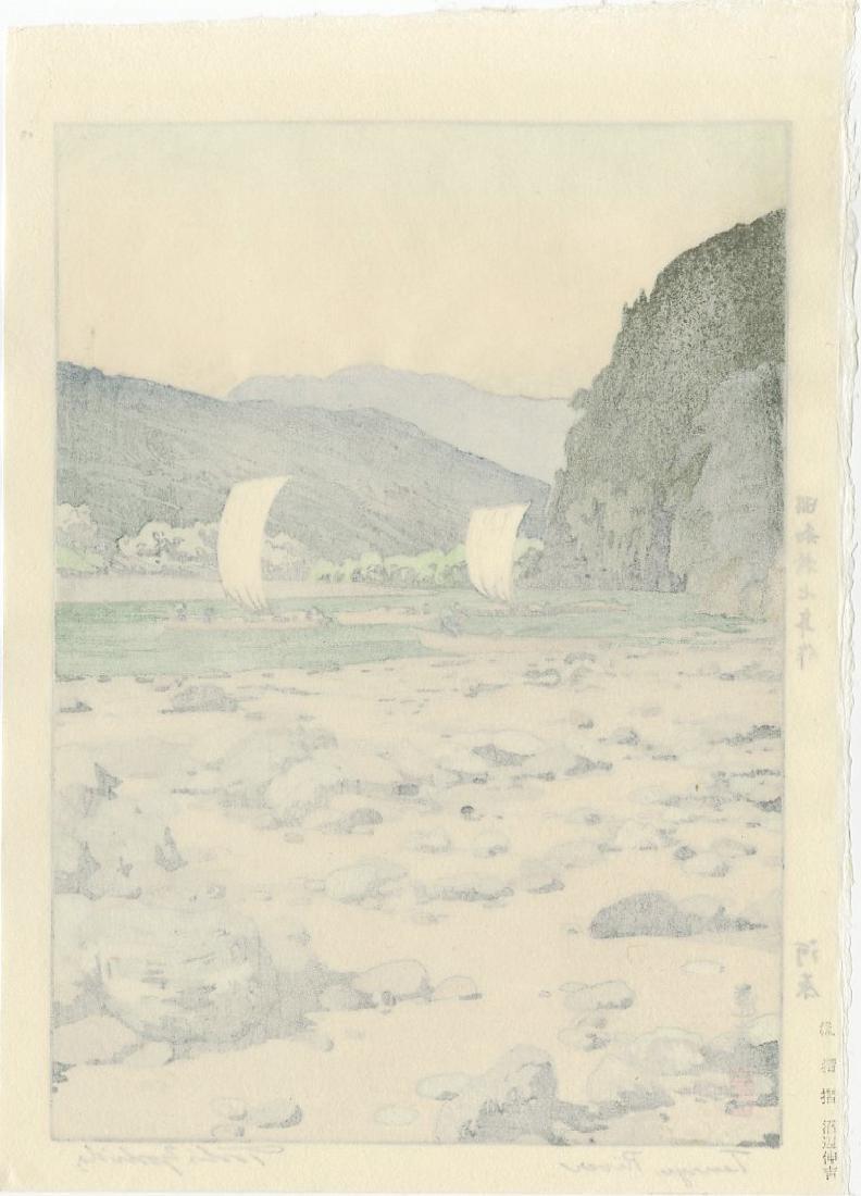 Toshi Yoshida Woodblock Tenryu River - 2