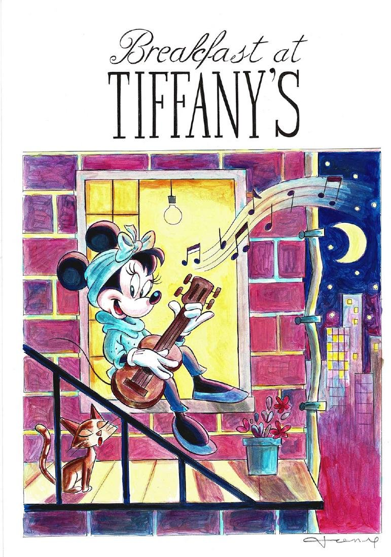 """Minnie Mouse inspired by """"Breakfast at Tiffany's"""""""