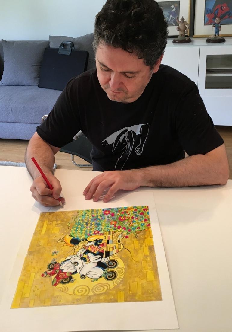 """Original Painting - Mickey & Minnie: Klimt's """"The Kiss"""" - 2"""