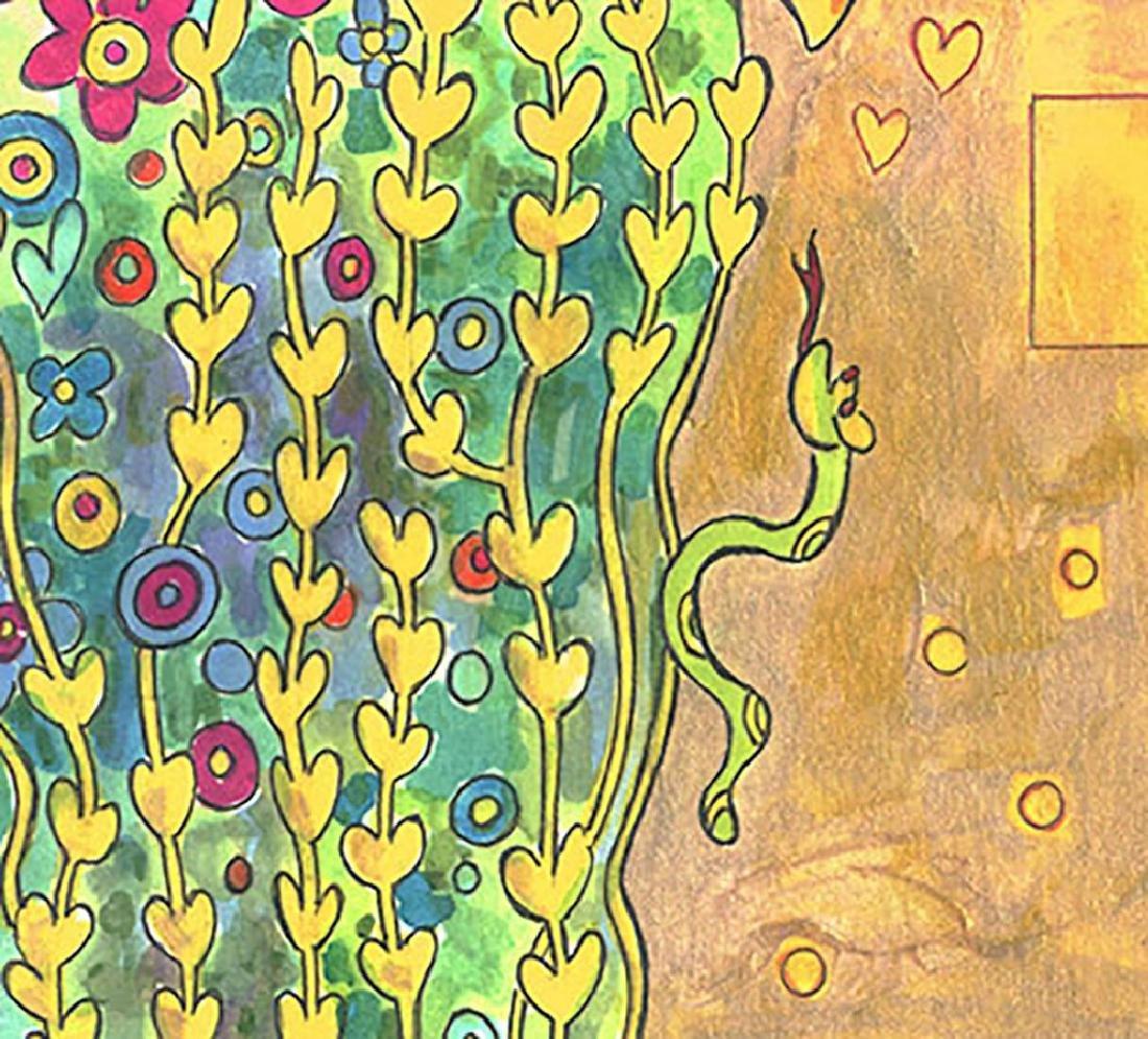"""Original Painting - Mickey & Minnie: Klimt's """"The Kiss"""" - 4"""